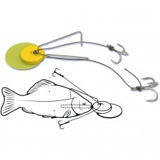 Монтаж за сом Dead Bait Jig Rig Black Cat