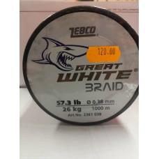Влакно Great White Braid 0.38мм 26кг Zebco